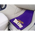 "Toledo Rockets 17"" x 27"" Carpet Auto Floor Mat (Set of 2 Car Mats)"