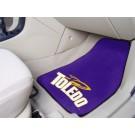 """Toledo Rockets 17"""" x 27"""" Carpet Auto Floor Mat (Set of 2 Car Mats)"""