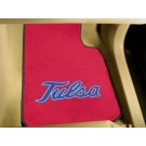 "Tulsa Golden Hurricane 17"" x 27"" Carpet Auto Floor Mat (Set of 2 Car Mats)"
