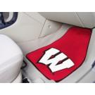"Wisconsin Badgers ""W"" 17"" x 27"" Carpet Auto Floor Mat (Set of 2 Car Mats)"