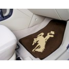 "Wyoming Cowboys 17"" x 27"" Carpet Auto Floor Mat (Set of 2 Car Mats)"