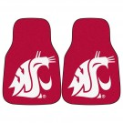 "Washington State Cougars 17"" x 27"" Carpet Auto Floor Mat (Set of 2 Car Mats)"