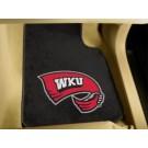 """Western Kentucky Hilltoppers 17"""" x 27"""" Carpet Auto Floor Mat (Set of 2 Car Mats)"""