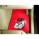 "Georgia Bulldogs ""Bulldog"" 17"" x 27"" Carpet Auto Floor Mat (Set of 2 Car Mats) (Red)"