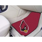 "Arizona Cardinals 17"" x 27"" Carpet Auto Floor Mat (Set of 2 Car Mats)"