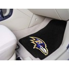 "Baltimore Ravens 17"" x 27"" Carpet Auto Floor Mat (Set of 2 Car Mats)"