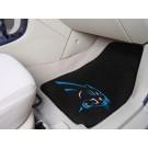 """Carolina Panthers 27"""" x 18"""" Auto Floor Mat (Set of 2 Car Mats)"""