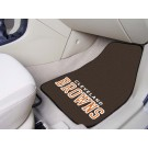 "Cleveland Browns 17"" x 27"" Carpet Auto Floor Mat (Set of 2 Car Mats)"