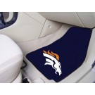 "Denver Broncos 17"" x 27"" Carpet Auto Floor Mat (Set of 2 Car Mats)"