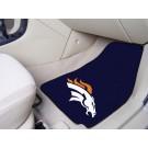 """Denver Broncos 27"""" x 18"""" Auto Floor Mat (Set of 2 Car Mats)"""