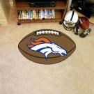 """22"""" x 35"""" Denver Broncos Football Mat"""