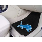 "Detroit Lions 17"" x 27"" Carpet Auto Floor Mat (Set of 2 Car Mats)"