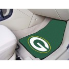 "Green Bay Packers 17"" x 27"" Carpet Auto Floor Mat (Set of 2 Car Mats)"