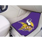 "Minnesota Vikings 17"" x 27"" Carpet Auto Floor Mat (Set of 2 Car Mats)"