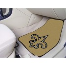 "New Orleans Saints 17"" x 27"" Carpet Auto Floor Mat (Set of 2 Car Mats)"