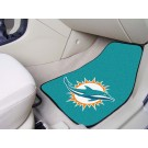 "Miami Dolphins 17"" x 27"" Carpet Auto Floor Mat (Set of 2 Car Mats)"