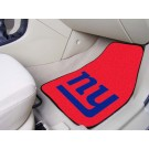 "New York Giants 17"" x 27"" Carpet Auto Floor Mat (Set of 2 Car Mats)"