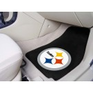 "Pittsburgh Steelers 17"" x 27"" Carpet Auto Floor Mat (Set of 2 Car Mats)"