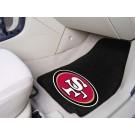 """San Francisco 49ers 27"""" x 18"""" Auto Floor Mat (Set of 2 Car Mats)"""