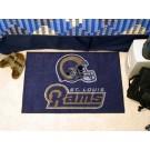 """St. Louis Rams 19"""" x 30"""" Starter Mat"""