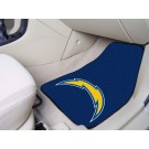 "San Diego Chargers 17"" x 27"" Carpet Auto Floor Mat (Set of 2 Car Mats)"