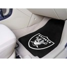 """Oakland Raiders 27"""" x 18"""" Auto Floor Mat (Set of 2 Car Mats)"""