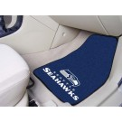 "Seattle Seahawks 17"" x 27"" Carpet Auto Floor Mat (Set of 2 Car Mats)"