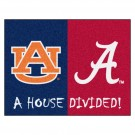 "Auburn Tigers and Alabama Crimson Tide 34"" x 45"" House Divided Mat"