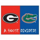 "Georgia Bulldogs and Florida Gators 34"" x 45"" House Divided Mat"