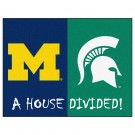 "Michigan Wolverines and Michigan State Spartans 34"" x 45"" House Divided Mat"