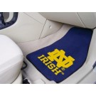 "Notre Dame Fighting Irish 17"" x 27"" Carpet Auto Floor Mat (Set of 2 Car Mats - with ""ND"")"