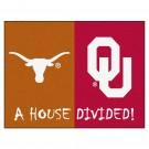 "Texas Longhorns and Oklahoma Sooners 34"" x 45"" House Divided Mat"