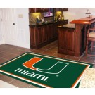 Miami Hurricanes 5' x 8' Area Rug by