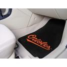 "Baltimore Orioles 17"" x 27"" Carpet Auto Floor Mat (Set of 2 Car Mats)"