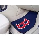 "Boston Red Sox 17"" x 27"" Carpet Auto Floor Mat (Set of 2 Car Mats - ""Socks"")"