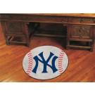 """27"""" Round New York Yankees Baseball Mat"""