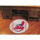 "27"" Round Cleveland Indians Baseball Mat"
