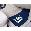 "Detroit Tigers 17"" x 27"" Carpet Auto Floor Mat (Set of 2 Car Mats)"