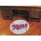 """27"""" Round Minnesota Twins Baseball Mat"""