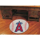 "27"" Round Los Angeles Angels of Anaheim Baseball Mat"