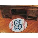 """27"""" Round Seattle Mariners Baseball Mat"""