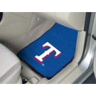 "Texas Rangers 17"" x 27"" Carpet Auto Floor Mat (Set of 2 Car Mats)"