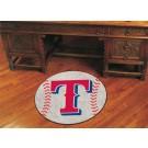 """27"""" Round Texas Rangers Baseball Mat"""