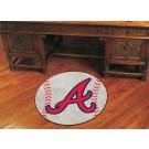 "27"" Round Atlanta Braves Baseball Mat"