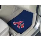 """Atlanta Braves 27"""" x 18"""" Auto Floor Mat (Set of 2 Car Mats)"""