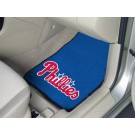 "Philadelphia Phillies 17"" x 27"" Carpet Auto Floor Mat (Set of 2 Car Mats)"