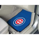"Chicago Cubs 17"" x 27"" Carpet Auto Floor Mat (Set of 2 Car Mats)"
