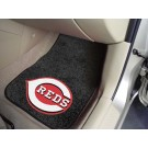 "Cincinnati Reds 17"" x 27"" Carpet Auto Floor Mat (Set of 2 Car Mats)"