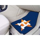 "Houston Astros 17"" x 27"" Carpet Auto Floor Mat (Set of 2 Car Mats)"