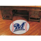 "27"" Round Milwaukee Brewers Baseball Mat"